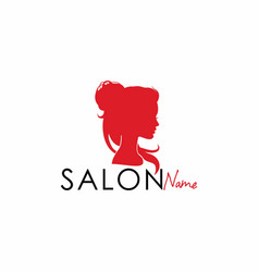 beauty salon silhouette logo design vector image