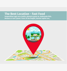 Best location fast food vector