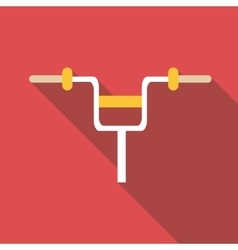 Bicycle handlebar icon flat style vector