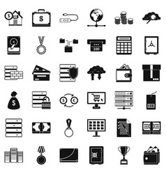 Business target icons set simple style vector