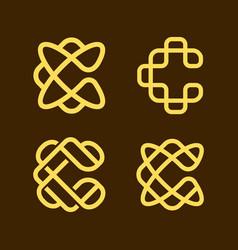c initial logo vector image