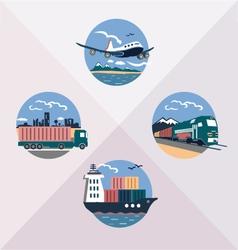 cargo transport vector image