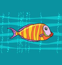 Cichlid aquarium fish vector