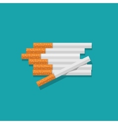 Cigarettes heap isolated on vector