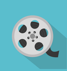 Cinema reel isolated icon vector