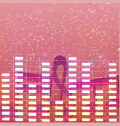 Colorful luminous music background vector