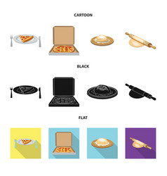 Design of pizza and food logo collection vector