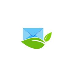 eco mail logo icon design vector image