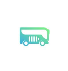 electric bus icon vector image