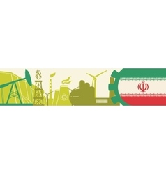 Energy and Power icons setIraq flag vector