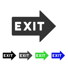 Exit arrow flat icon vector