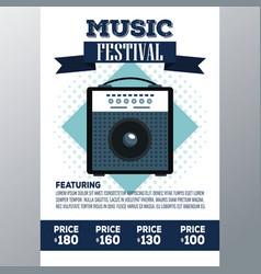 Festival music flyer vector