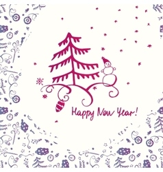 for holiday celebration happy new vector image
