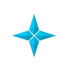 Four rays pseudo 3D star vector image