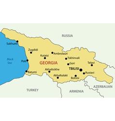 Georgia country - map vector