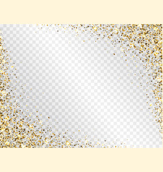 Glitter gold frame with space for text luxury vector
