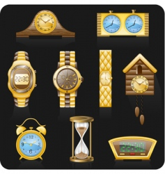 golden watches vector image vector image
