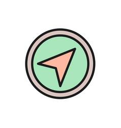 gps navigation compass location flat vector image