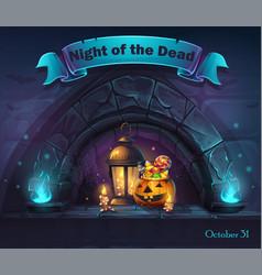 Halloween cartoon night ofthe vector