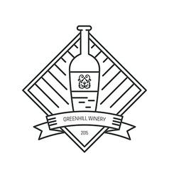 Hipster Wine Logo vector