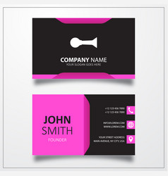 Horn klaxon icon business card template vector
