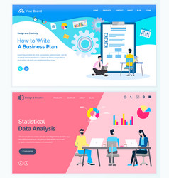 how write business plan statistical data analysis vector image