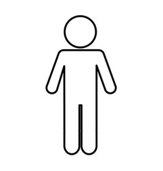 human silhouette isolated icon vector image