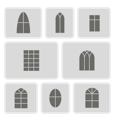 icon set with window vector image