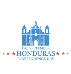 Independence Day Honduras vector image