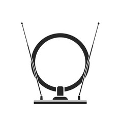 indoor tv antenna flat icon of modern home vector image