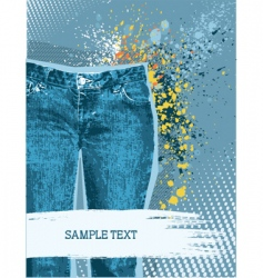 Jeans background vector