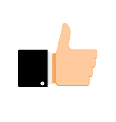like symbol thumb up vector image
