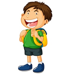 Little boy with big smile vector