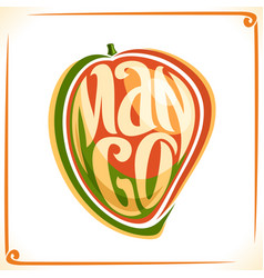 Logo for mango vector