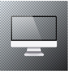 modern realistic computer monitor icon vector image