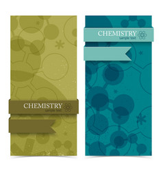 Molecule vertical banners vector