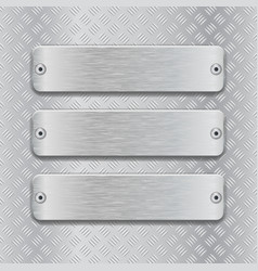 non slip surface with brushed metal plates vector image