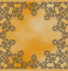 Ornamental frame border with a lot of copyspace vector