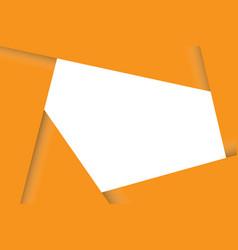 Overlap paper card frame vector