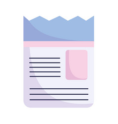 paper document information sheet text letter icon vector image