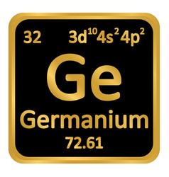 Periodic table element germanium icon vector