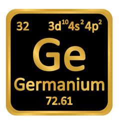 periodic table element germanium icon vector image