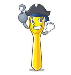 Pirate character spoon plastic for kid meal vector