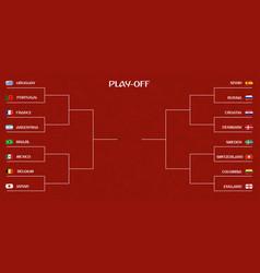 Playoff tournament bracket vector