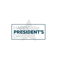 Presidents day typography vector image