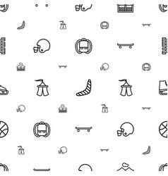 Recreation icons pattern seamless white background vector