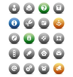 Round buttons miscellaneous vector image vector image