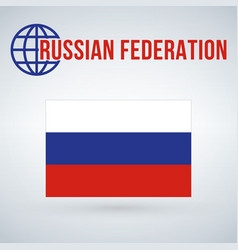 Russian federation flag isolated on modern vector