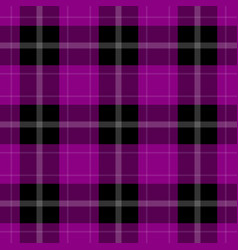 seamless black purple tartan with white stripes vector image