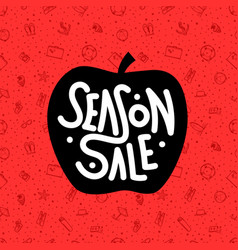 season sale summer sale red banner vector image